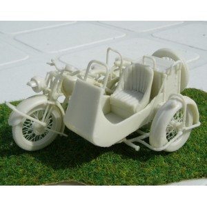 350008 NORTON  BIG 4  + SIDE CAR,